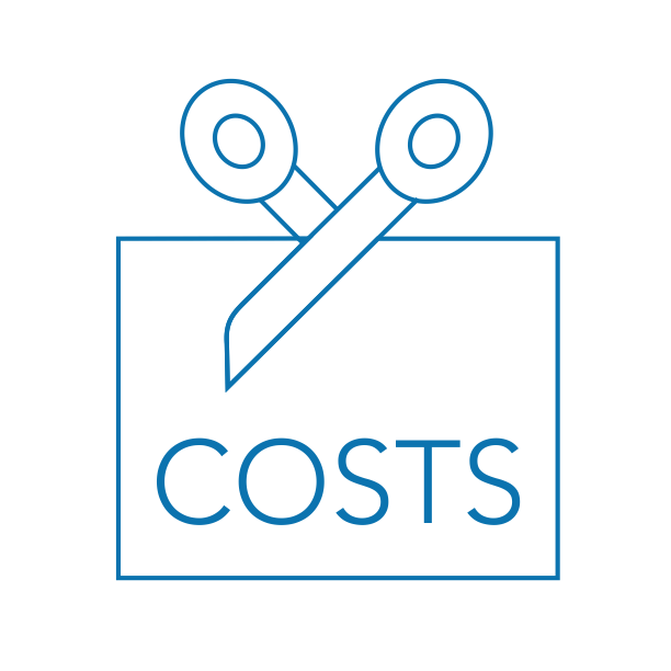 Cuts costs Icon