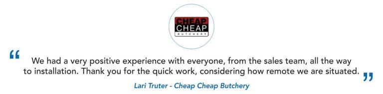 Cheap Cheap Butchery Client Testimonial